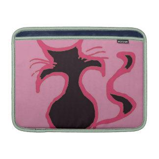 Pinky Black Cat Mac Sleeve For MacBook Air
