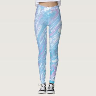 Pinky Blue Marble Leggings
