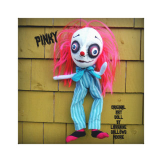 Pinky Clown Art Doll Canvas Decor