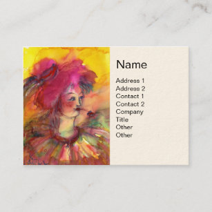Kids clown party business cards business card printing zazzle ca pinky clown business card colourmoves