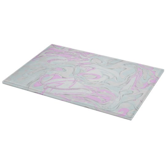 Pinky faux marble texture cutting board