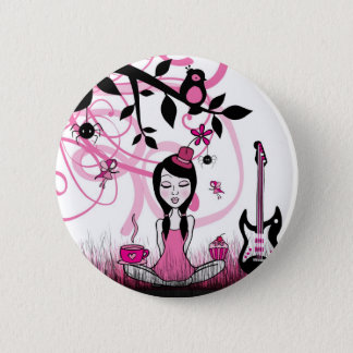 Pinky In Pinky Land 2 Inch Round Button