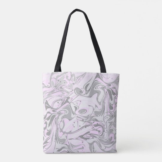 Pinky marble texture for trendy girls tote bag