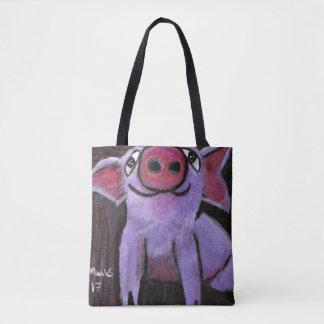 Pinky Pig Tote Bag (Customizable)