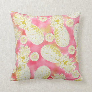 Pinky Pineapple Throw Pillow