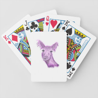 Pinky Posh Llama Bicycle Playing Cards
