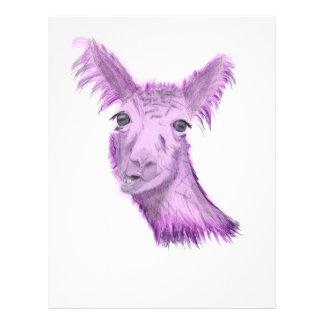 Pinky Posh Llama Letterhead