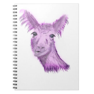 Pinky Posh Llama Notebook