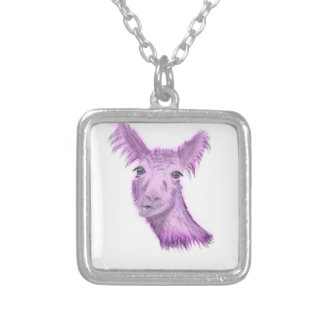 Pinky Posh Llama Silver Plated Necklace