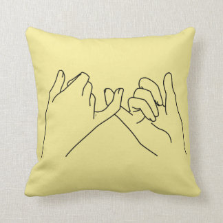 pinky promise throw pillow
