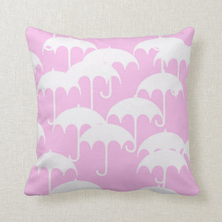 Pinky Rain Throw Pillow