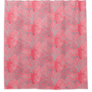 Pinky Seahorse & Seashell Pattern Design