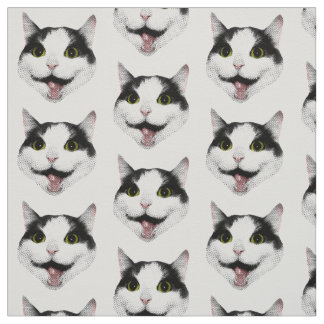 Pinky the Cat Fabric