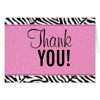 pinkzebra, Thank, YOU! Card
