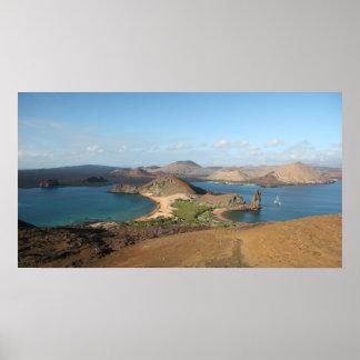 Pinnacle Rock, Galapagos Poster