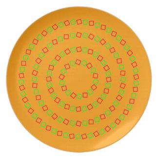 Pinna's illusory intertwining effect plate