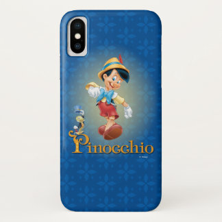 Pinocchio with Jiminy Cricket 2 iPhone X Case