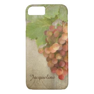 Pinot Grigio Wine Grapes Vintage Parchment Artwork iPhone 7 Case