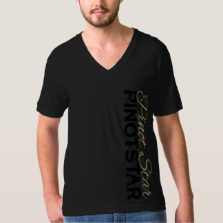 PINOTSTAR Obsidian tone on tone Gold Scroll V-neck T-Shirt
