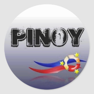 Pinoy, Filipino, Philippines Classic Round Sticker