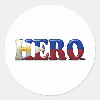 Pinoy Hero Round Sticker
