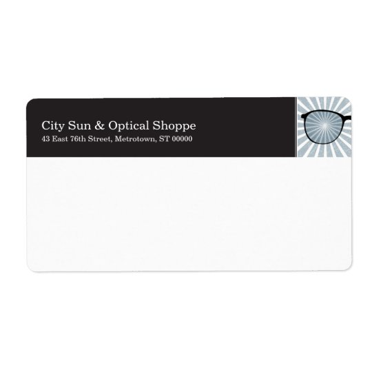 Pinpoint Glasses Shipping Label