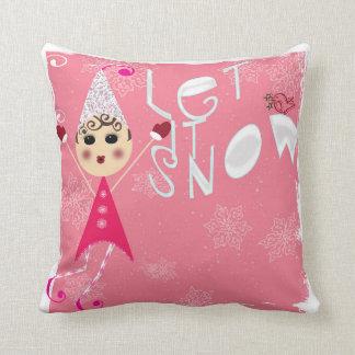 Pinqshue Elves Christmas pillow