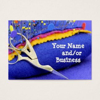 Pins and needles business card