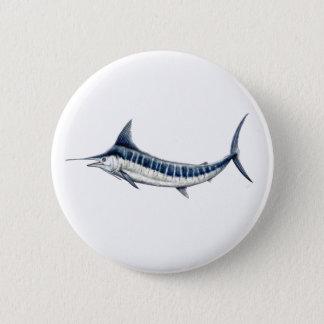 Pins, broaches, plates round blue Marlin 2 Inch Round Button