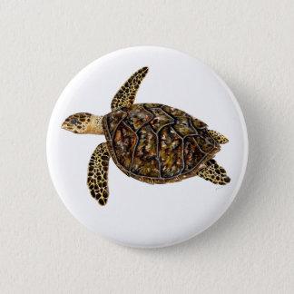 Pins, broaches, plates round marine Turtle sea 2 Inch Round Button
