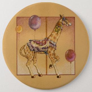 Pins, Buttons - Carousel Giraffe
