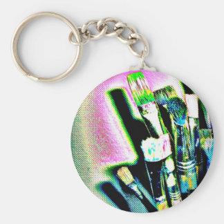 pinsel123 basic round button keychain