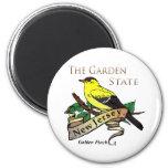 Pinson d'or de garden state de New Jersey Aimant
