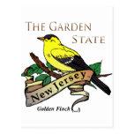 Pinson d'or de garden state de New Jersey Cartes Postales