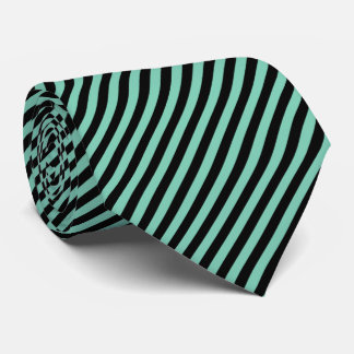 Pinstripe Black & Mint Green | DIY  Color Tie