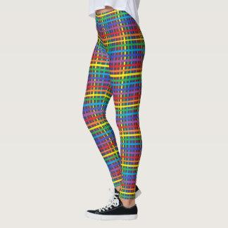 Pinstripe Rainbow Weave Leggings