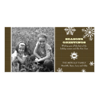 Pinstripe Snowflake Photo Card
