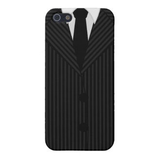 Pinstripe Suit and Tie Savvy iPhone 5 Matte Cases iPhone 5 Covers