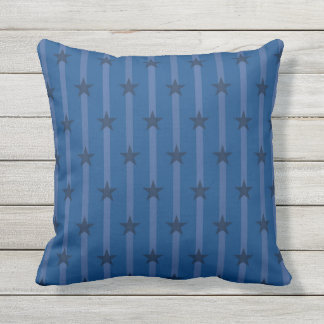 Pinstriped Stars Outdoor Pillow