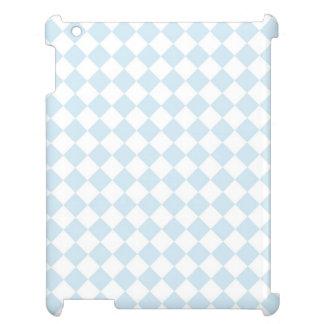 Pinstripes blue black white diagonal stripesPastel Cover For The iPad 2 3 4