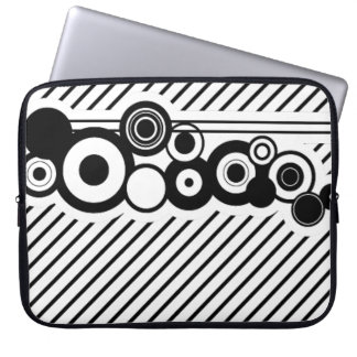 Pinstripes & Deco Circles Laptop Sleeve