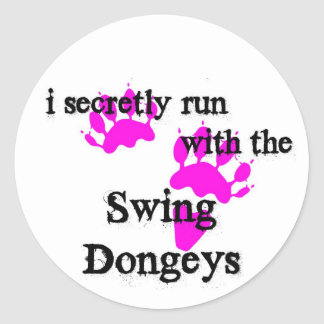PinSwingDongeys Classic Round Sticker