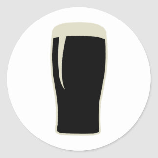 Pint o' Stout Classic Round Sticker