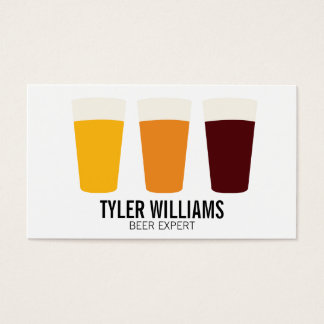 Pint of Beers | Traditional 2 Business Card