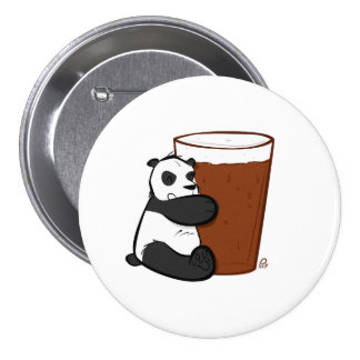 Pint Panda - Badge 3 Inch Round Button