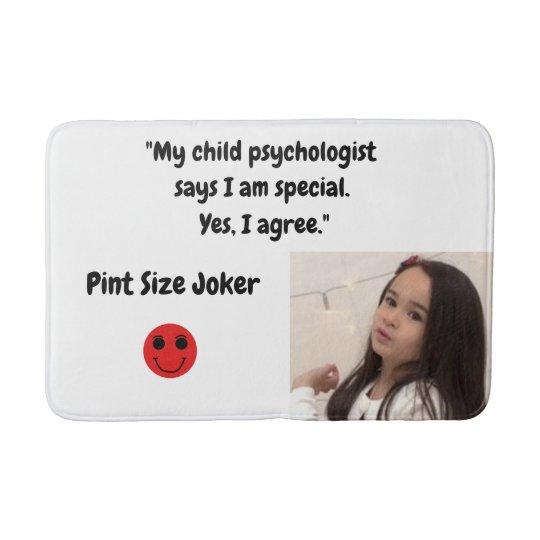 Pint Size Joker: Child Psychologist Special Bath Mat