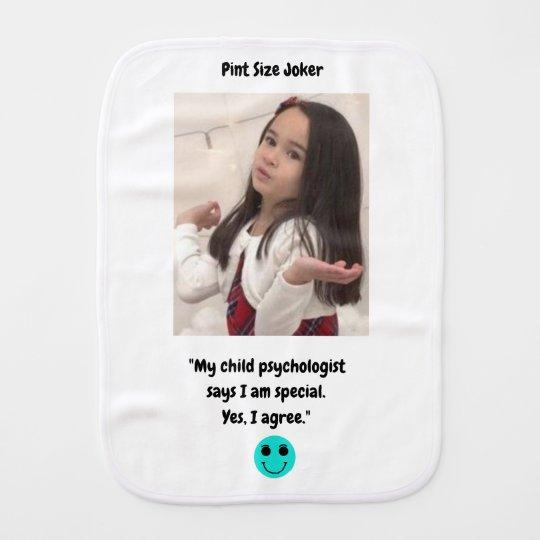 Pint Size Joker: Child Psychologist Special Burp Cloth