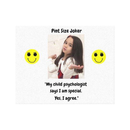 Pint Size Joker: Child Psychologist Special Canvas Print