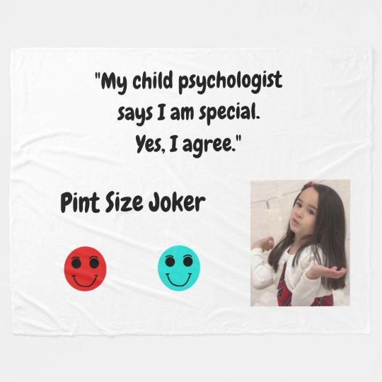 Pint Size Joker: Child Psychologist Special Fleece Blanket