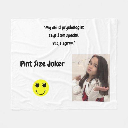 Pint Size Joker: Child Psychologist Special Fleece Blanket